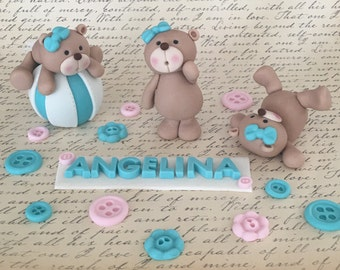 3 little fondant bears