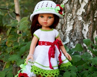 PDF Doll Clothes Crochet Pattern Birch Outfit for Paola Reina-type dolls By Kasatka dolls fashion