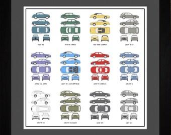 Saab Auto Collection Drawing Art Car 9-2 9-3 9-4 9-5 900 Gift ASAAB1616