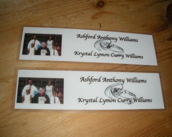 Customized Wedding Favor Bookmarks (Quantity of 4)