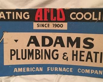 1960s Color Plumbing Advertising Sign (Cardboard)