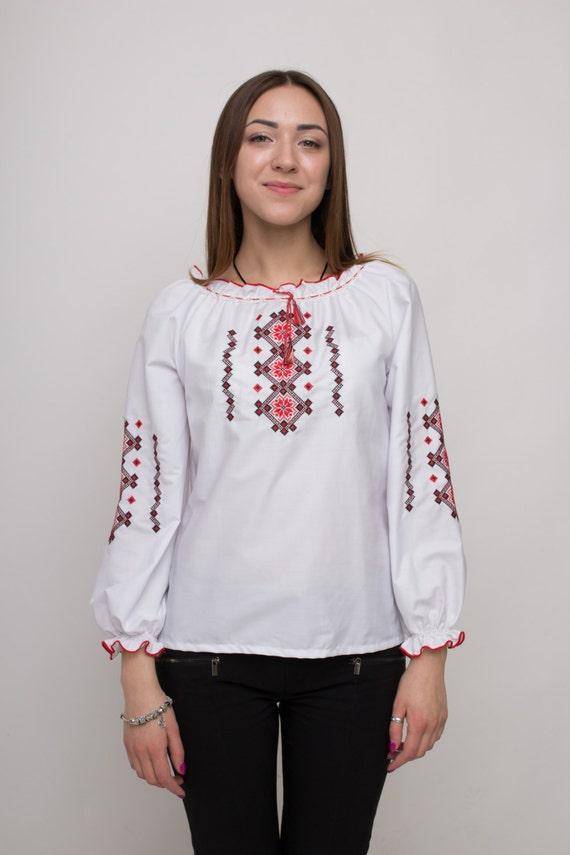 Traditional ukrainian embroidered women s blouse shirt