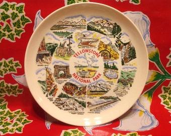 Vintage Yellowstone souvenir plate