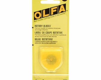 Rotary Cutter Blade  - Olfa Tungsten Steel -  18mm - 2 per Pack