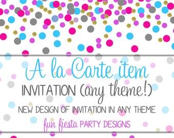 Custom invitation for Emma