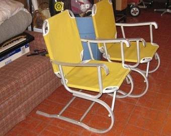 lawn chair canvas and aluminum