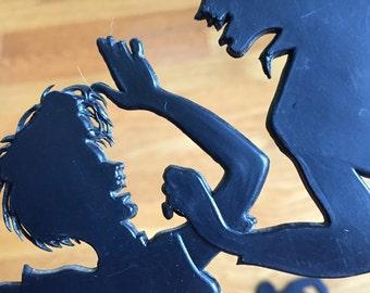 60's Rock & Roll Sillouette Shadows Wall Decor