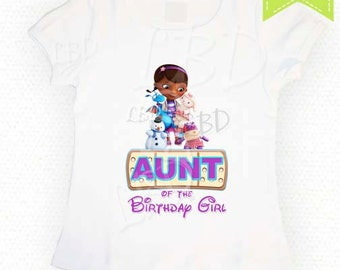 Doc Mcstuffins Birthday Shirt  Iron On Images Printable - Parents - Relatives, Birthday girl - YOU PRINT