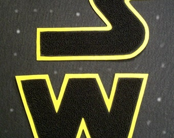 Star Wars style chenille letters