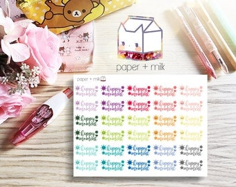 Happy Moment Planner Stickers