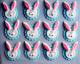 Bunny cupcake toppers