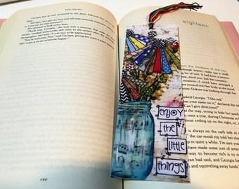 Mason Jar Bookmark, Enjoy the little things
