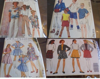 U Pick Sewing Patterns Childrens Boys Girls Shorts Pants Tops  Skirts Western