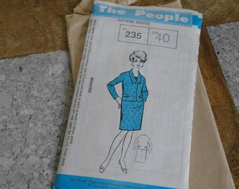 "The People Ladies Suit Pattern 235, Bust 40"" - Suit Pattern 1960"