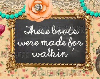 These boots were made for walkin vintage junk gypsy style facebook cover