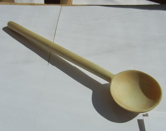 Beautiful Hand Carved Wooden Sauce Spoon, Aspen wood