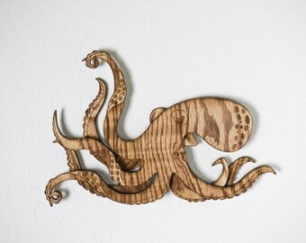 Octopus, Wall Art, Kraken, Nursery Decor