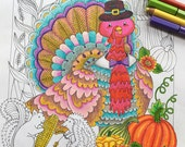 Thanksgiving, Adult Coloring Pages, Thanksgiving Decor, Thanksgiving Cards, Thanksgiving Invitation, Thanksgiving Party Decor, Fall Decor