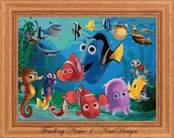 Finding Nemo 1 - cross stitch pattern - PDF pattern - instant download!