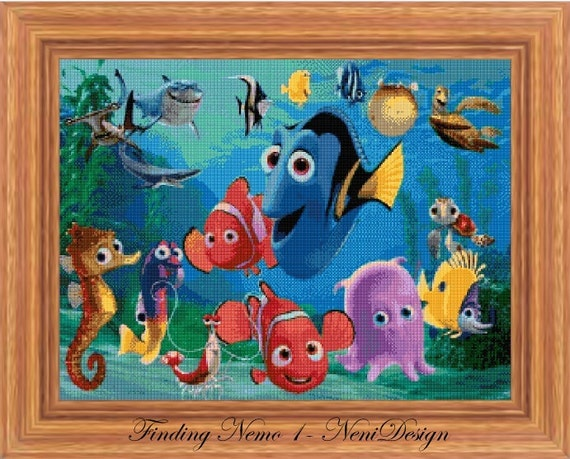Finding Nemo 1 - cross stitch pattern - PDF pattern - instant download!