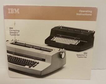 Free Shipping!! IBM Selectric II Typewriter Instruction Manual