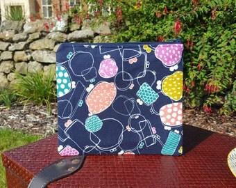 Navy Mochi Fabric Makeup Bag
