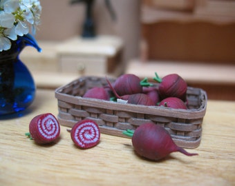 Miniature Beets, Kitchen Miniatures, Farm Miniatures, Cooking Miniatures, Fairy Garden Food, Dollhouse Beets, Miniature Vegetables,