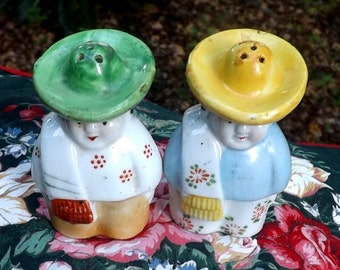 Vintage Mexican Salt and Pepper Shakers