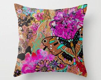 Neon Butterflies // Cushion // Soft Furnishings