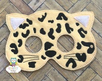 Cheetah Mask, Kids Dress Up Mask, Cheetah Costume Mask, Wool Blend Mask, Felt Cheetah Mask, Jungle Party Favor, Monkey Mask