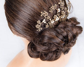 """Jewelry-Wedding comb """"Agathe"""" for wedding, ceremony or any other event"""