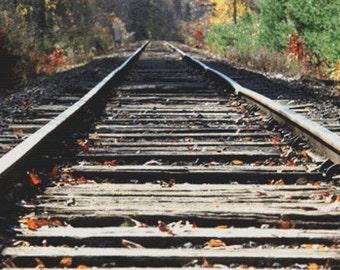 Railroad Tracks PDF Cross Stitch Pattern