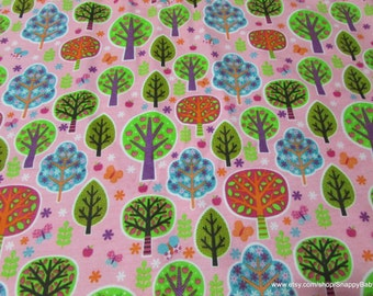 Flannel Fabric - Trees - 1 yard - 100% Cotton Flannel