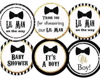 Bow tie baby shower,   bow tie  party bow tie  baby shower lil man sprinklebaby shower printable bow tie baby shower cupcake  digital