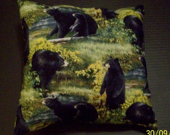 Wolf Pillow Back Side Is 2 Wolves