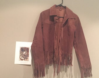 70's Geniune Suede Fringe Jacket