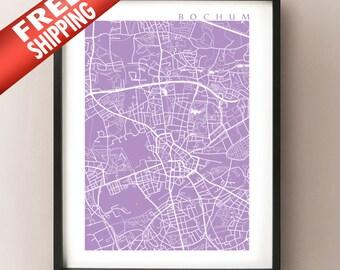 Bochum Map - Germany Poster Print - Bochum Karte