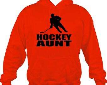 Hockey Aunt Hoodie Sweatshirt Many Colors