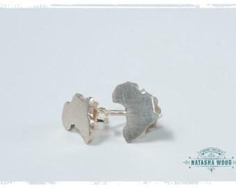 Silver Africa stud Earrings