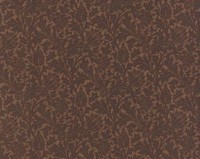 Morris Earthly Paradise Thistle Brown - 1/2yd