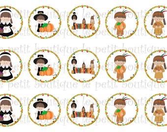 Pilgrim and Indians Thanksgiving