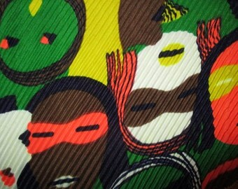 70s Pop Art Faces Scarf