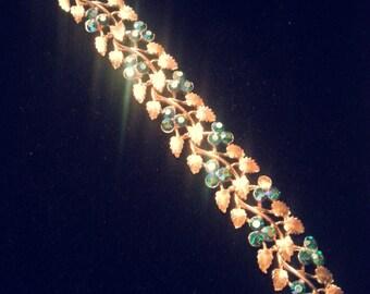 Vintage Exquisite BSK Aurora Borealis Rhinestone Bracelet