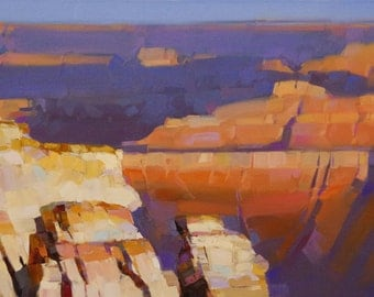 Grand Canyon National Park Landscape Original oil Painting Handmade Signed Impressionism One of a Kind Painting for Large Wall art