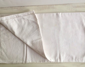 Vintage White Linen Tablecloth