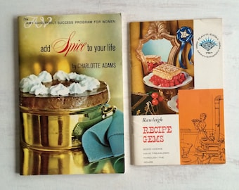 Vintage Rawleigh Recipe Gems and Add Spice to Your Life Cookbooks