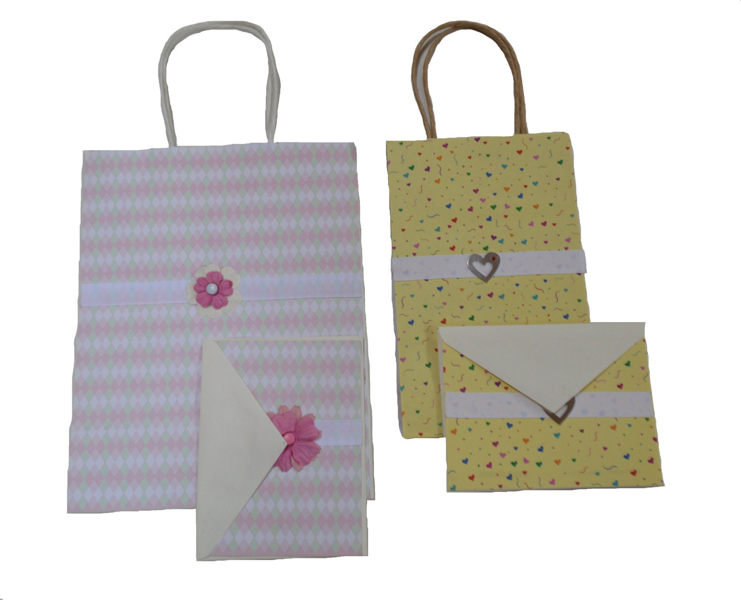 Gift bag set greeting cards packaging by