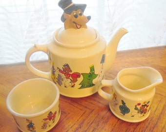 1995 Wade animated character Tea set.  1 of only 1700 made. 4 pc. set.  Very good