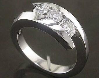 0.50 Cttw G VS-SI Round Cut Diamonds Ring in 14K White Gold