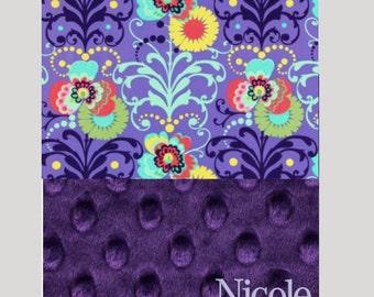 Girls Nap Mat Cover, Purple Nap Mat, Kinder Mat Cover, Nap Mat Set